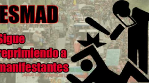 SALVAJE PALIZA PROPINA EL ESMAD A CAMPESINOS DEL NORTE DEL TOLIMA