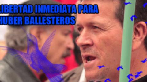 ¡Cese a la represión del Pueblo Colombiano! ¡Libertad inmediata para Hubert Ballesteros!