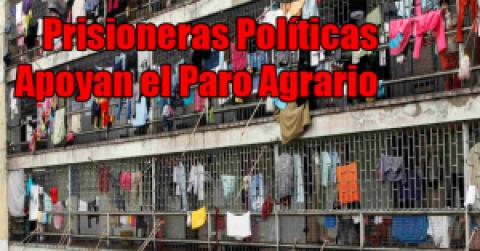 Prisioneras Políticas de la Reclusión de Mujeres El Buen Pastor saludan el Paro Agrario y Popular