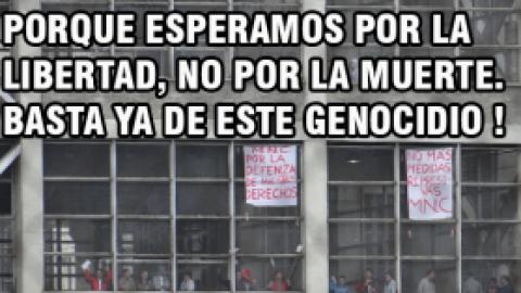 PORQUE ESPERAMOS POR LA LIBERTAD, NO POR LA MUERTE. BASTA YA DE ESTE GENOCIDIO !