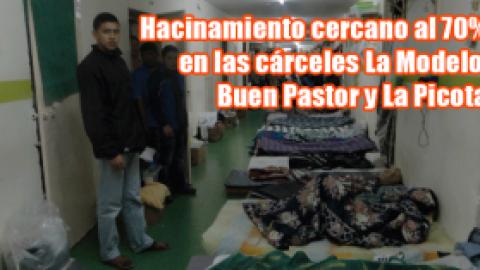 Hacinamiento cercano al 70% en las cárceles La Modelo, Buen Pastor y La Picota