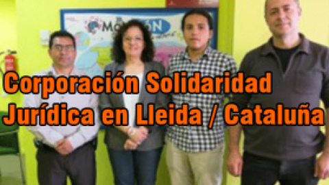 El Municipio de Lleida recibe a miembros de la corporación solidaridad jurídica colombiana