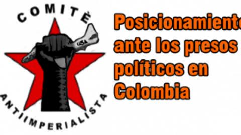 Posicionamiento ante los presos políticos en Colombia