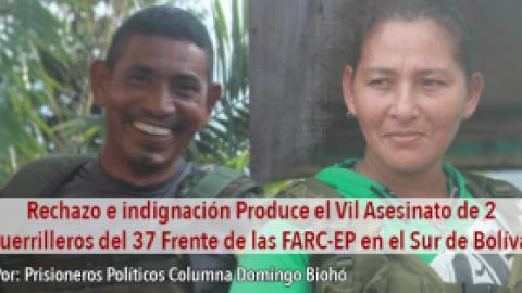 Rechazo e indignación Produce el Vil Asesinato de 2 Guerrilleros del 37 Frente de las FARC-EP en el Sur de Bolívar