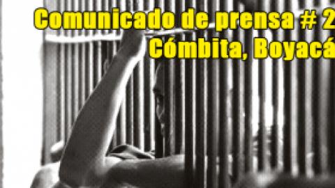 Comunicado de prensa # 2 / Cómbita, Boyacá