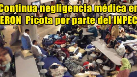 Continua negligencia médica en ERON Picota por parte del INPEC