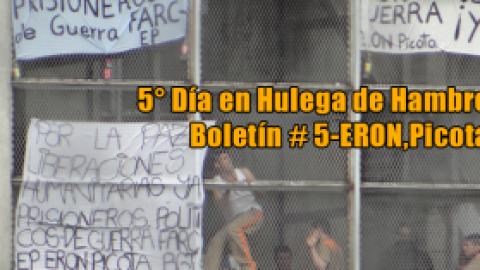 5° Día en Hulega de Hambre-Boletín # 5-ERON,Picota
