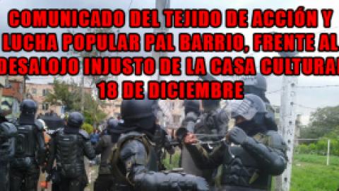 COMUNICADO DEL TEJIDO DE ACCIÓN Y LUCHA POPULAR PAL BARRIO