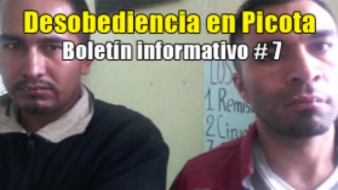 Desobediencia en Picota / Boletín informativo # 7