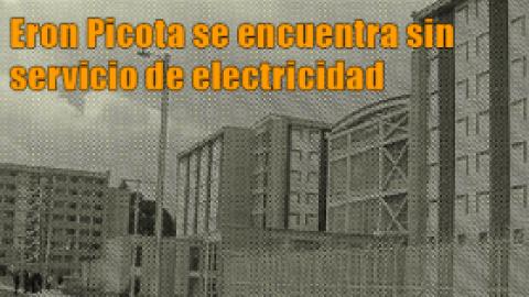 Eron Picota se encuentra sin servicio de electricidad