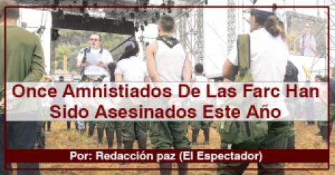 Once Amnistiados De Las Farc Han Sido Asesinados Este Año