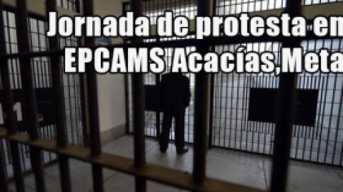Jornada de protesta en EPCAMS Acacías,Meta