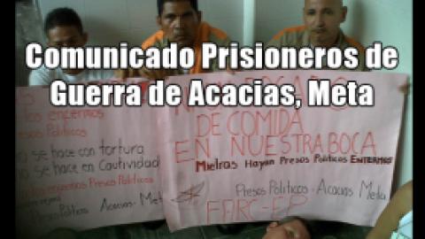 Comunicado Prisioneros de Guerra de Acacias, Meta