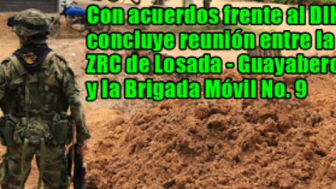 Con acuerdos frente al DIH concluye reunión entre la ZRC de Losada – Guayabero y la Brigada Móvil No. 9