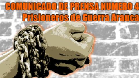 COMUNICADO DE PRENSA NUMERO 4 / Prisioneros de Guerra de Arauca