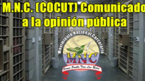 M.N.C. Comunicado a la opinión pública