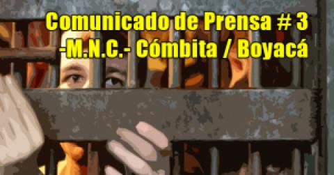 Comunicado de Prensa # 3 -M.N.C.- Cómbita / Boyacá