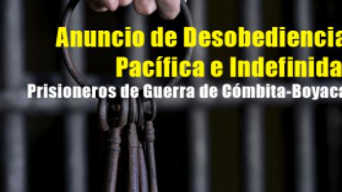 Anuncio de Desobediencia Pacífica e Indefinida