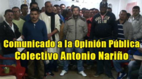 Comunicado a la Opinión Pública / Colectivo Antonio Nariño