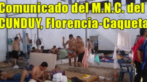 Comunicado del M.N.C. del CUNDUY (Florencia-Caquetá)