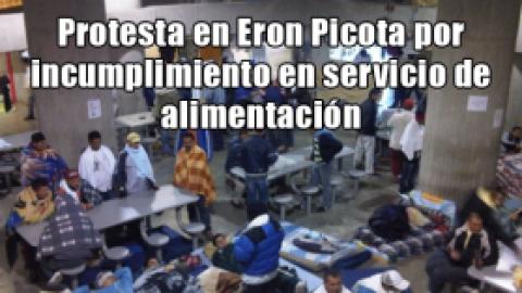 Protesta en Eron Picota por incumplimiento en servicio de alimentación