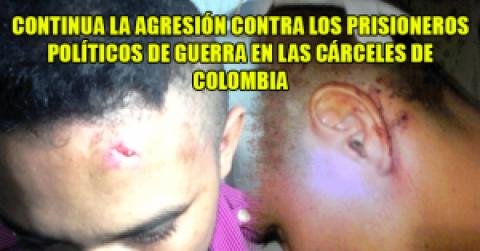 Continua la agresión contra los prisioneros políticos de guerra en las cárceles de Colombia
