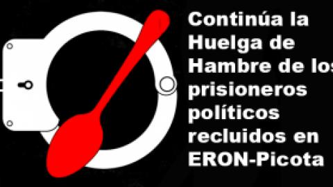 Continúa la Huelga de Hambre de los prisioneros políticos recluidos en ERON-Picota