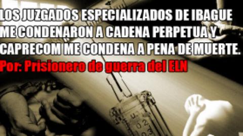 LOS JUZGADOS ESPECIALIZADOS DE IBAGUE ME CONDENARON A CADENA PERPETUA Y CAPRECOM ME CONDENA A PENA DE MUERTE.