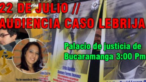 MAÑANA 22 de JULIO AUDIENCIA CASO LEBRIJA