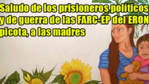 Saludo de los prisioneros políticos y de guerra de las FARC-EP del ERON picota, a las madres