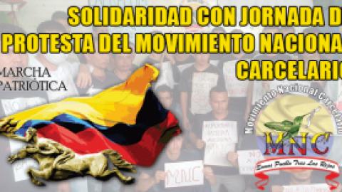 SOLIDARIDAD CON JORNADA DE PROTESTA DEL MOVIMIENTO NACIONAL CARCELARIO