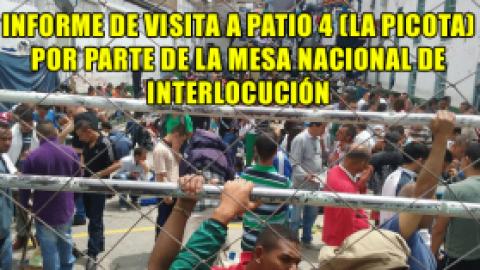 INFORME DE VISITA A PATIO 4 (LA PICOTA) POR PARTE DE LA MESA NACIONAL DE INTERLOCUCIÓN
