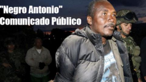 """""""Negro Antonio""""-Comunicado Público"""