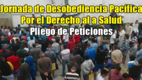 Jornada de Desobediencia Pacífica por el Derecho al a Salud