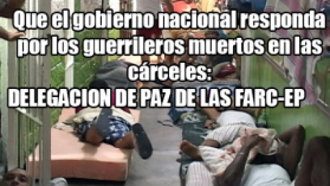 Que el gobierno nacional responda por los guerrileros muertos en las cárceles