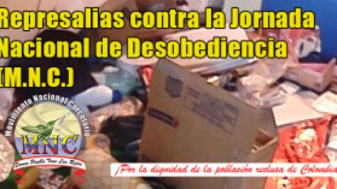 Represalias contra la Jornada Nacional de Desobediencia (M.N.C.)
