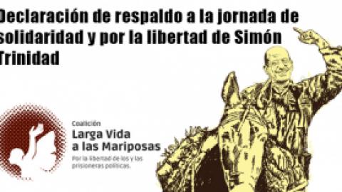 Declaración de respaldo a la jornada de solidaridad y por la libertad de Simón Trinidad