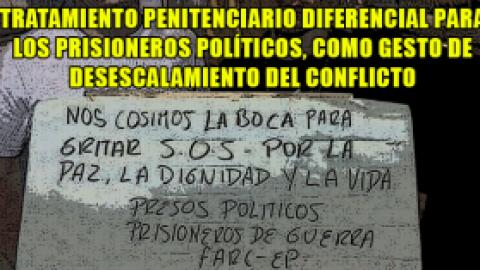 TRATAMIENTO PENITENCIARIO DIFERENCIAL PARA LOS PRISIONEROS POLÍTICOS, COMO GESTO DE DESESCALAMIENTO DEL CONFLICTO