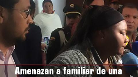 Amenazan a familiar de una víctima que asiste a la audiencia contra el general (r) Montoya